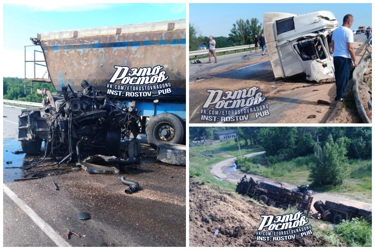 В столкновении двух большегрузов и легковушки пострадали три человека